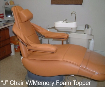 J Chair with Memory Foam Topper