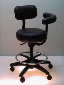 RT204 Assistant Stool with Ratchet, Tilt posture Control and Backrest