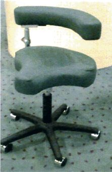 SS601 Saddle Seat Stool with Ratchet.